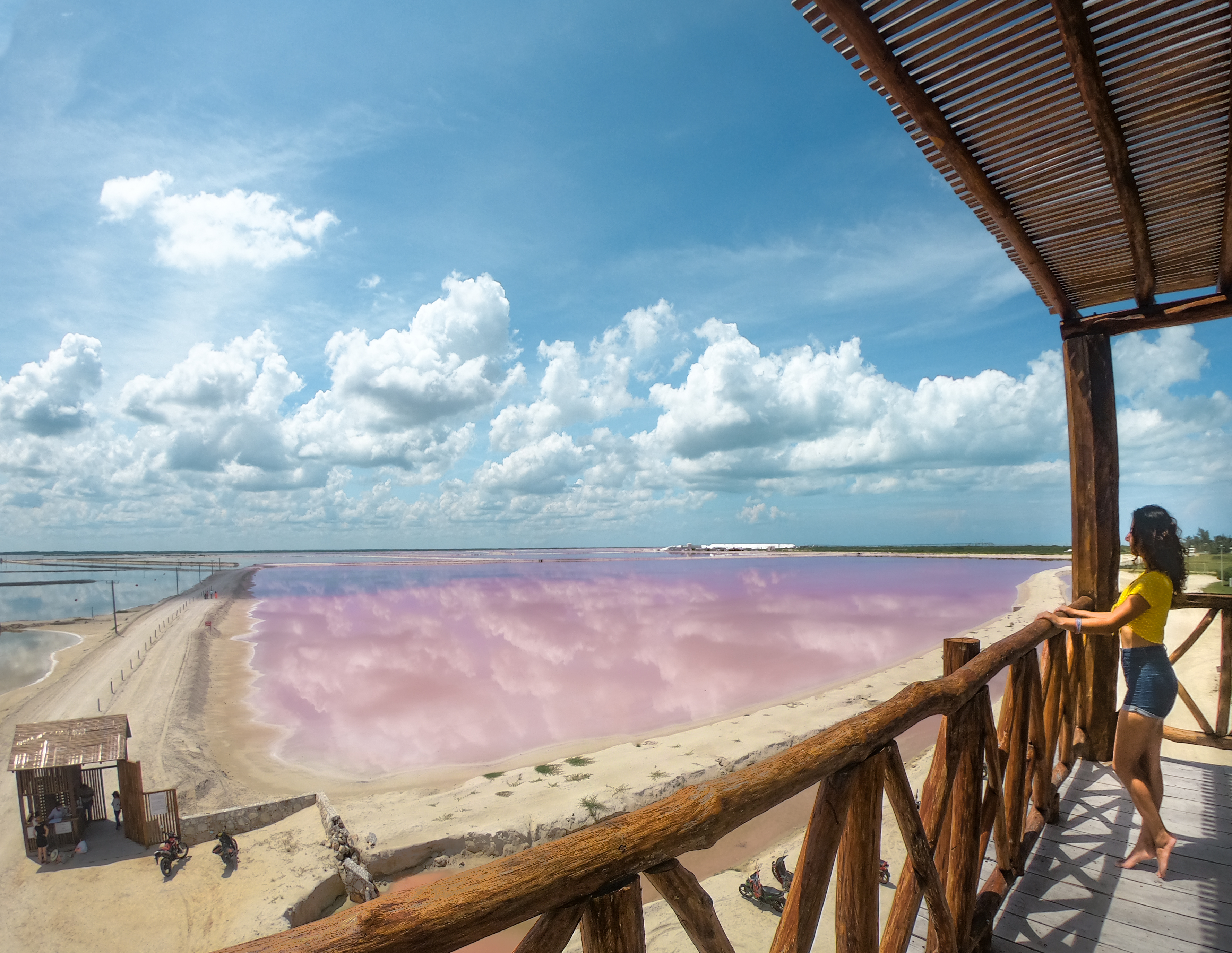 Las Coloradas as seen from the mirador, Mexico