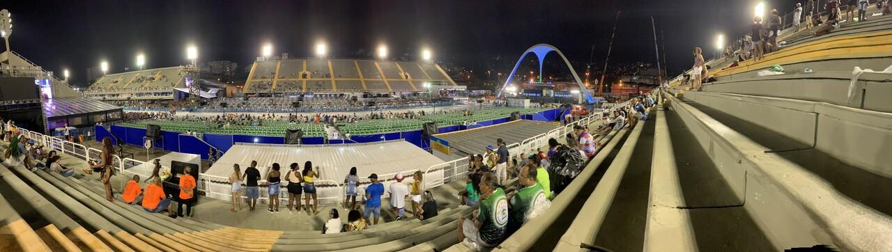 The sambadrome during Rio Carnival 2020