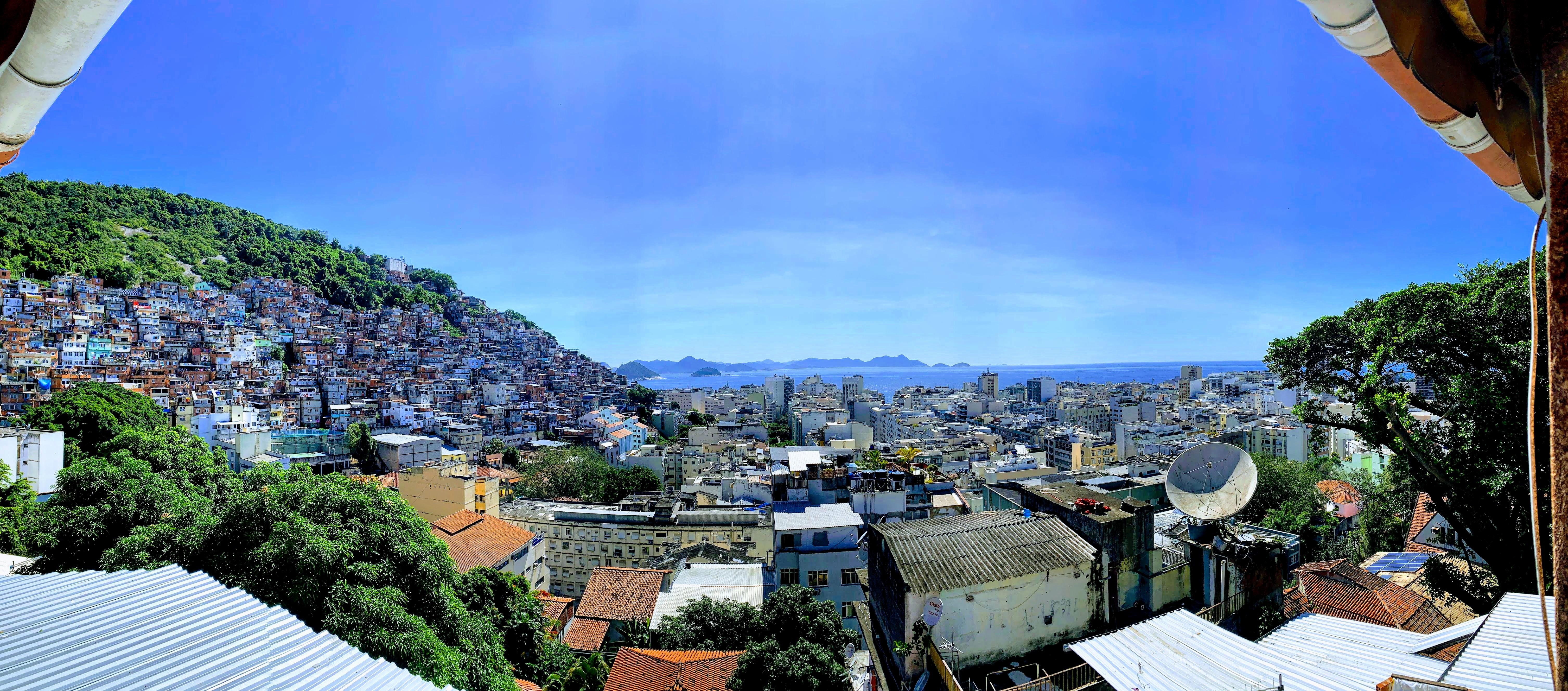 View from a favela in Rio de Janeiro, Brazil