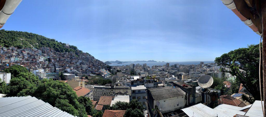 view of the favela in Rio de Janeiro