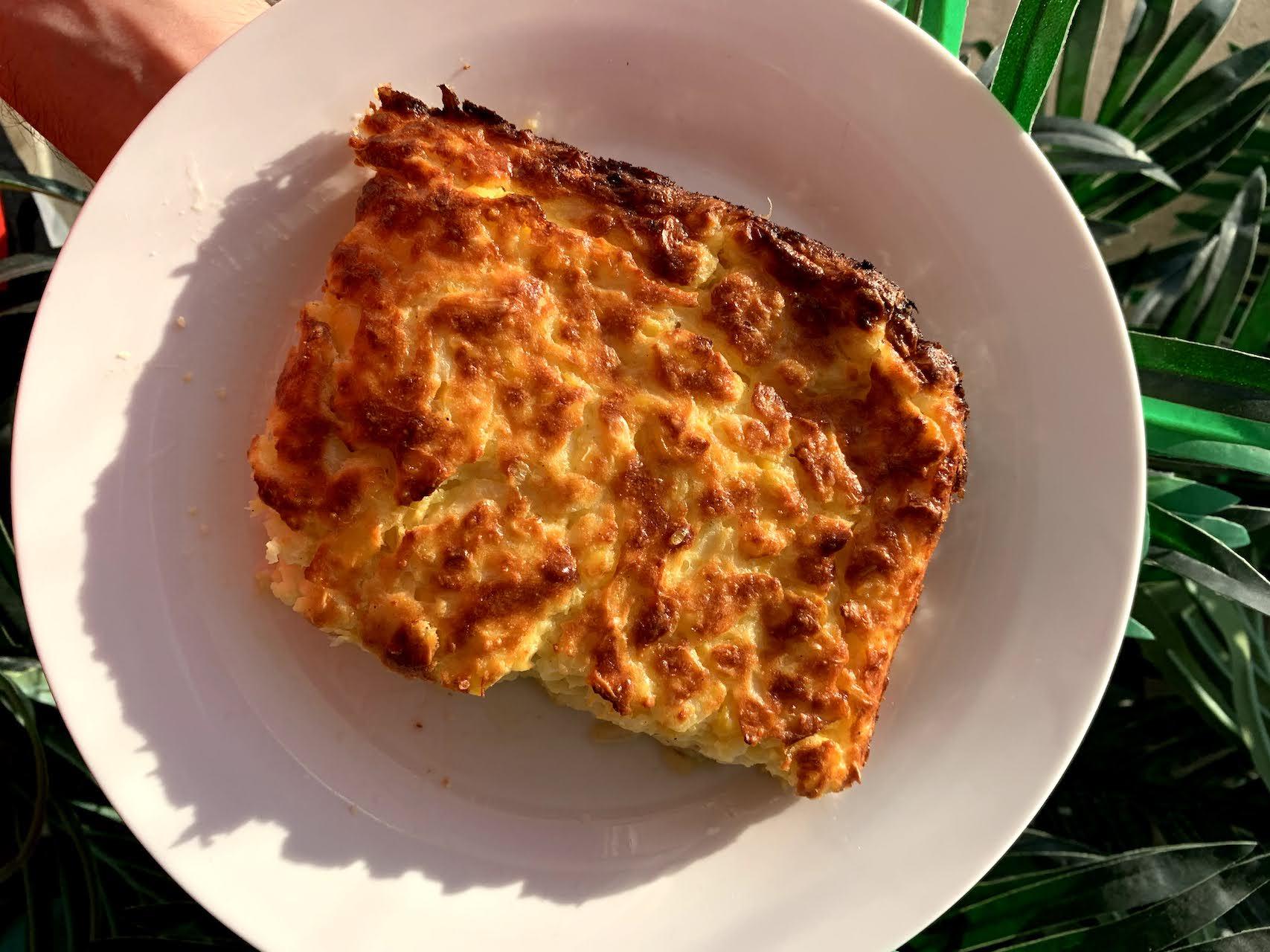 chipa guazu, traditional paraguayan dish with corn