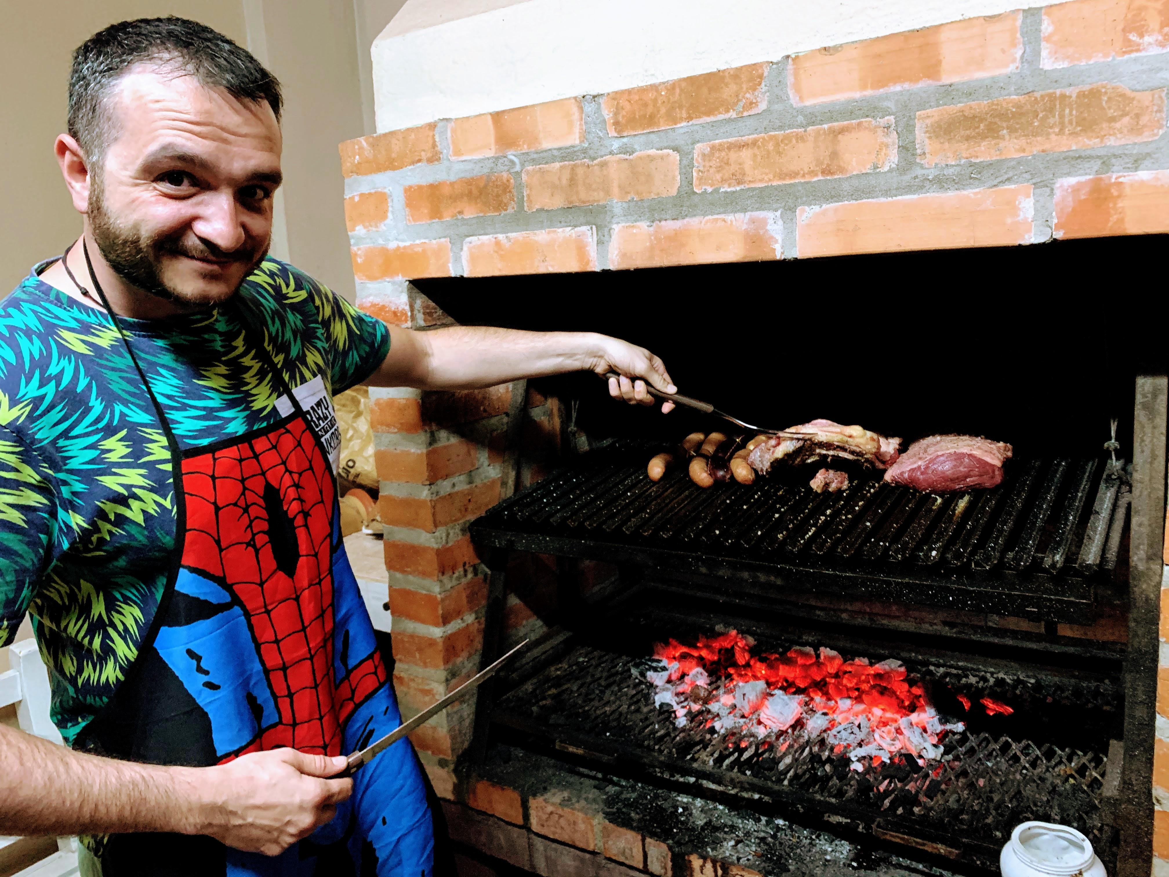 Asado, traditional paraguayan barbecue