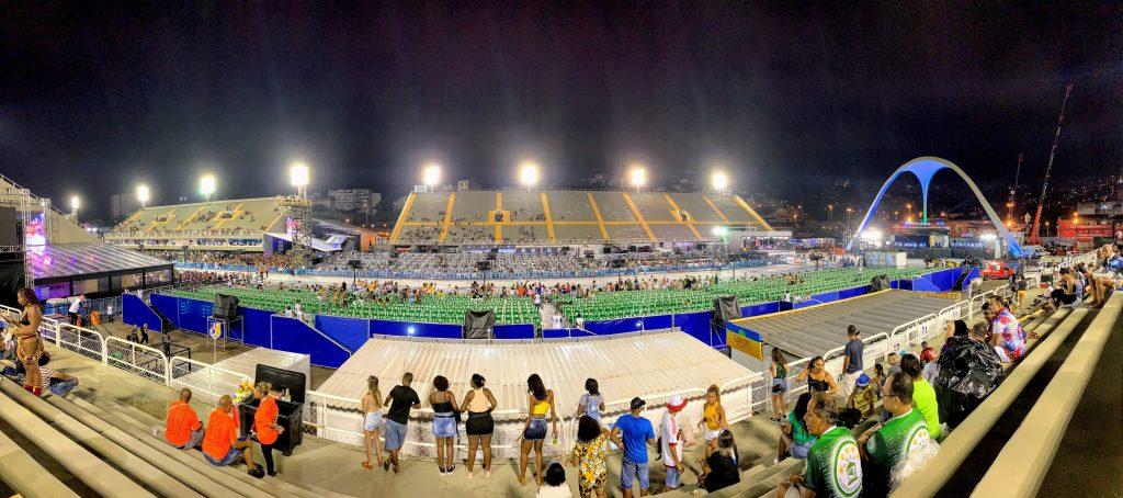 Panoramic view or Rio Carnival Sambadrome